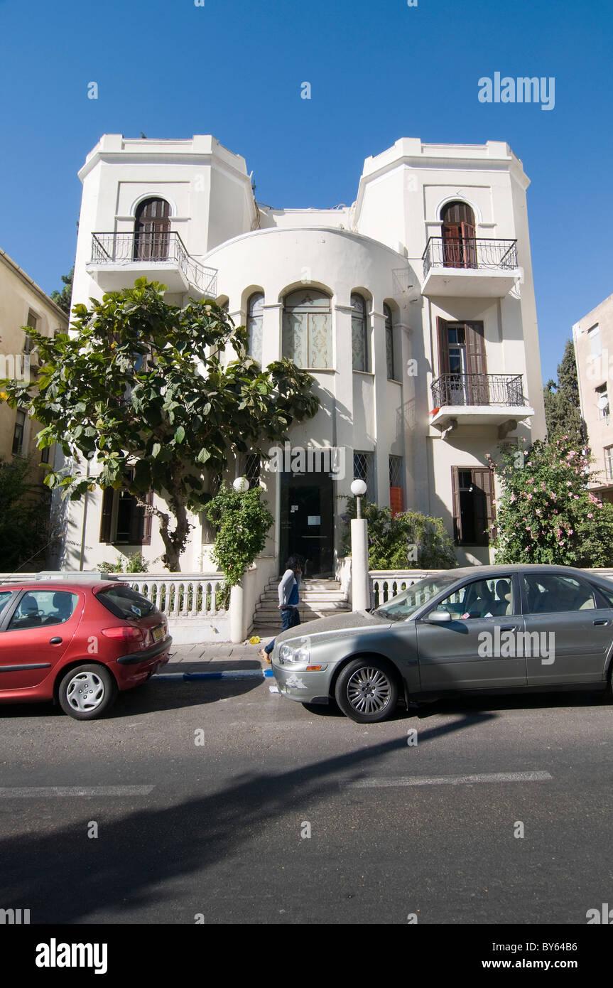 Israel, Tel Aviv, 27 Rothschild Boulevard, Eclectic style building - Stock Image