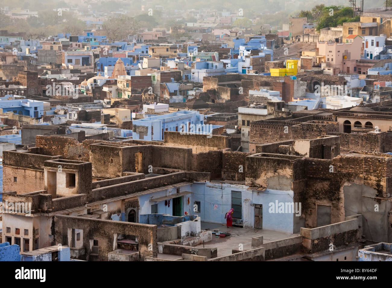 Rooftops, Bundi, Rajasthan, India - Stock Image