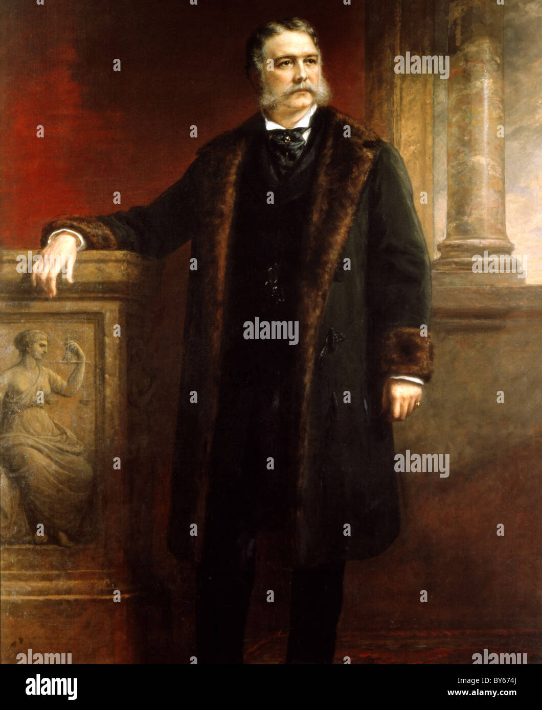 Chester Alan Arthur was the 21st President of the United States. - Stock Image