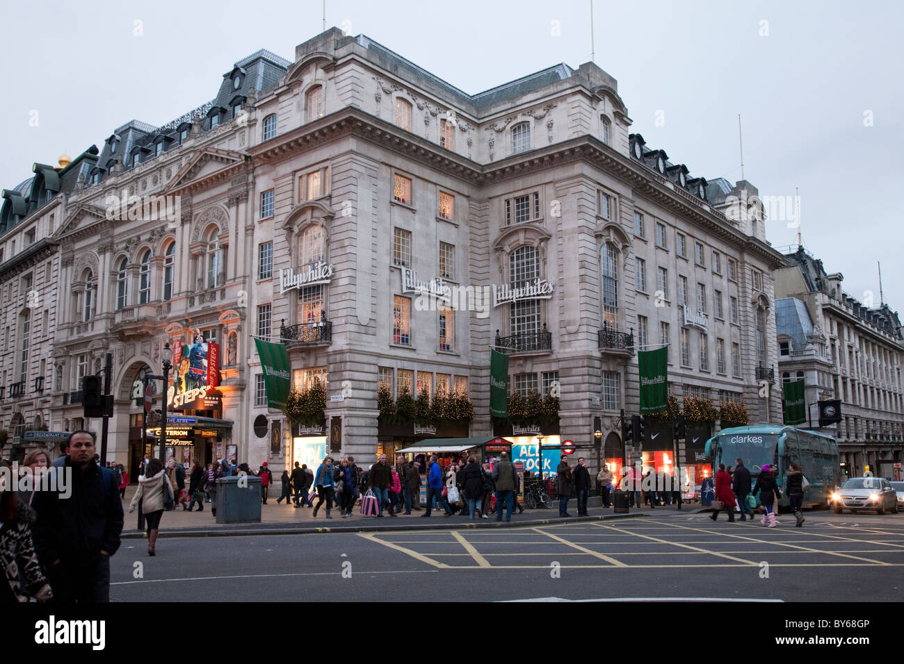 Lillywhites and the Criterion Theatre, Piccadilly, London, Uk - Stock Image