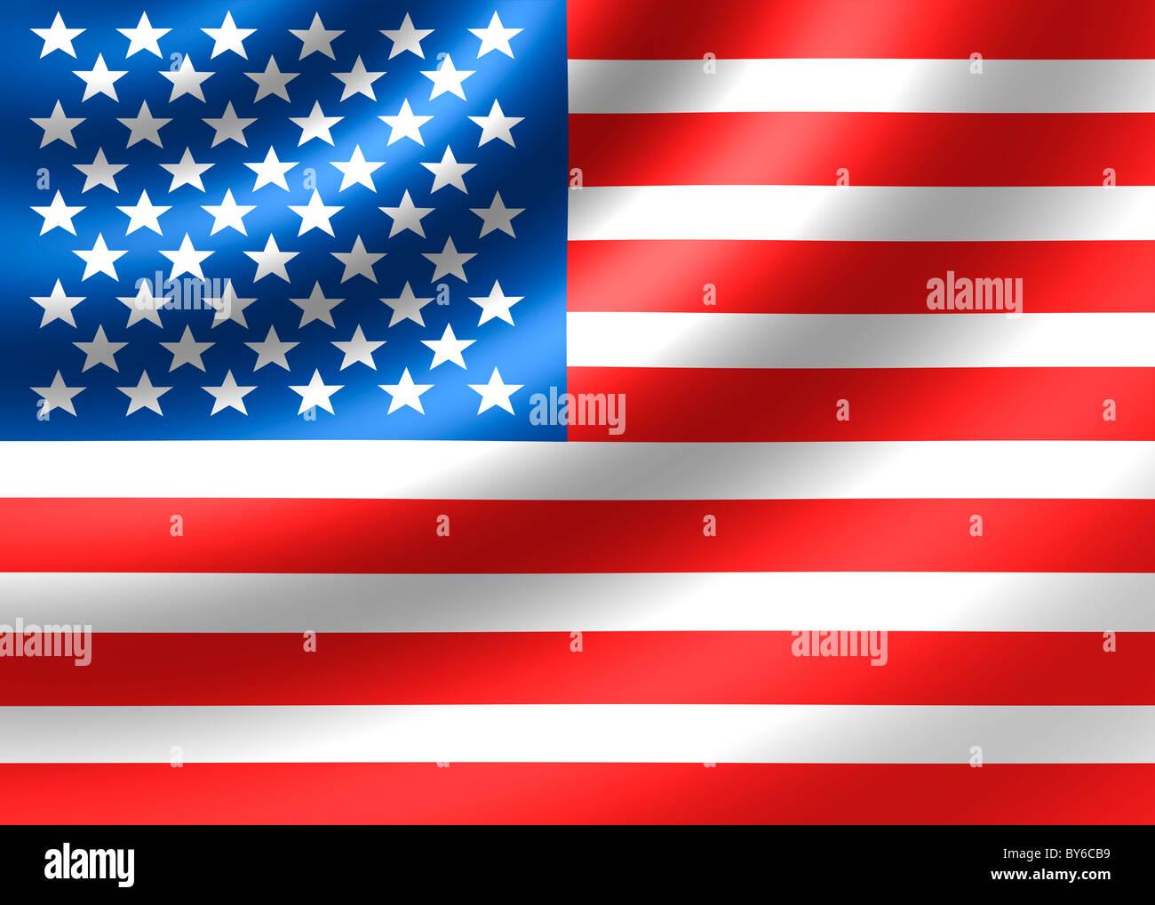 United States of America USA US flag - Stock Image