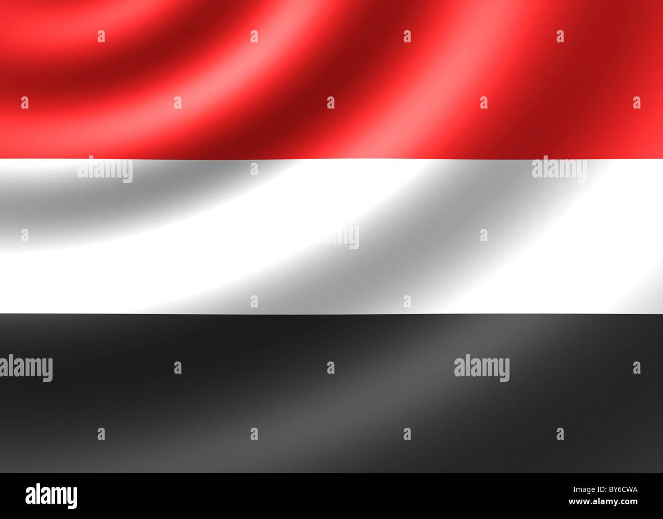 Yemen flag Stock Photo