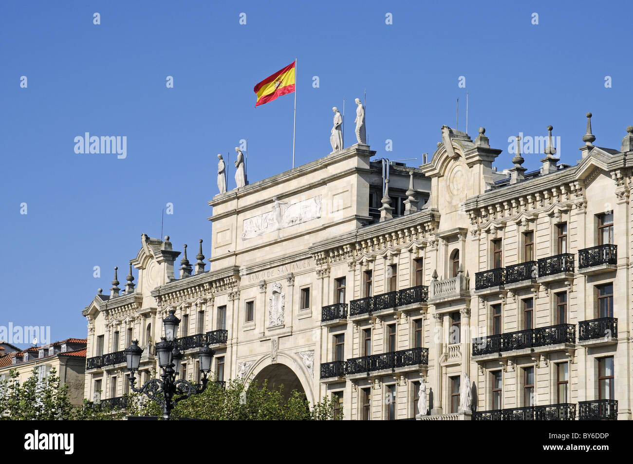 Banco de Santander in Cantabria Spain Stock Photo