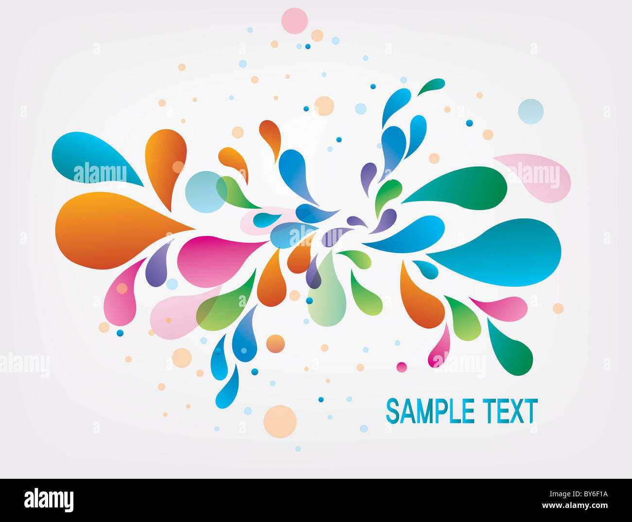 drop shaped illustration background - Stock Image