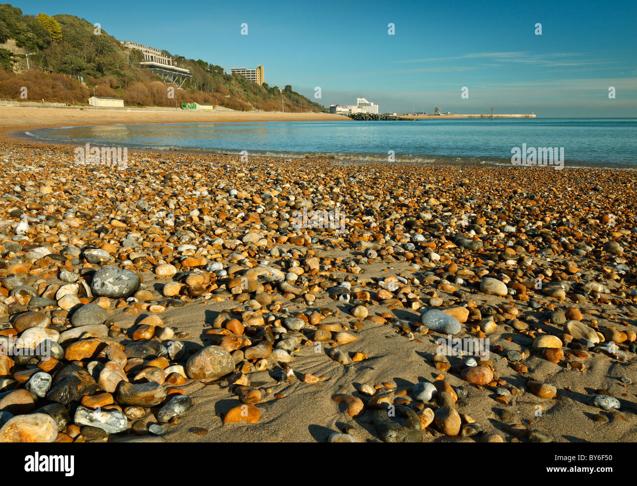 Folkestone Beach. - Stock Image