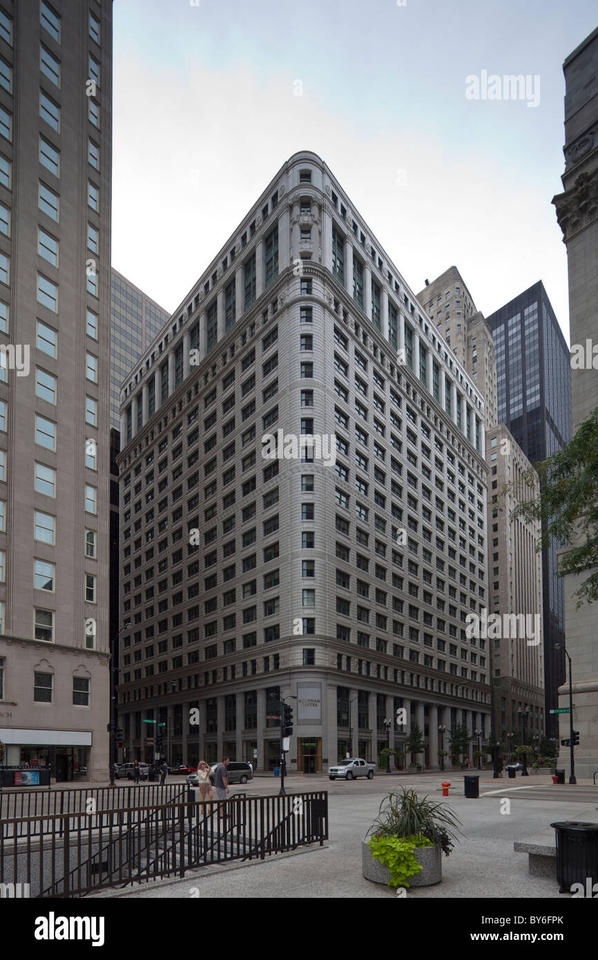 Conway building , also known as the Chicago Title and Trust Building, Chicago, Illinois, USA - Stock Image