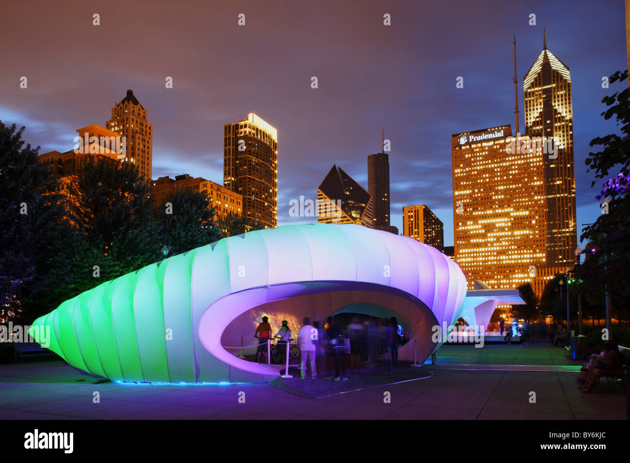 Millennium Park, Zaha Hadid Pavilion for the Burnham Centennial, Chicago, Illinois, USA Stock Photo
