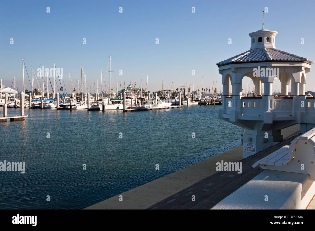 Municipal Marina, Corpus Christi Bay. - Stock Image