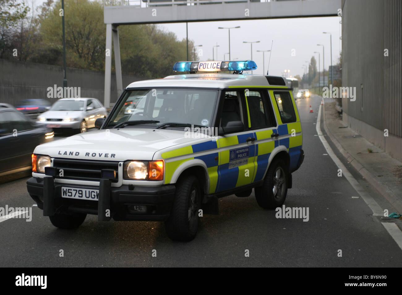 Metropolitan Police Landrover Discovery Stock Photo
