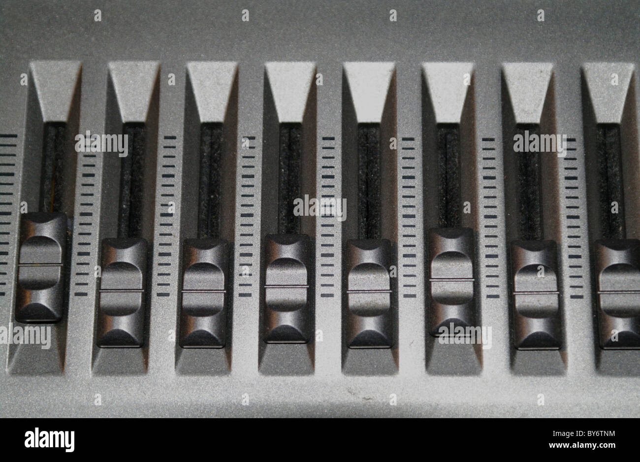 Reguljator toddlers of a synthesizer close up. - Stock Image