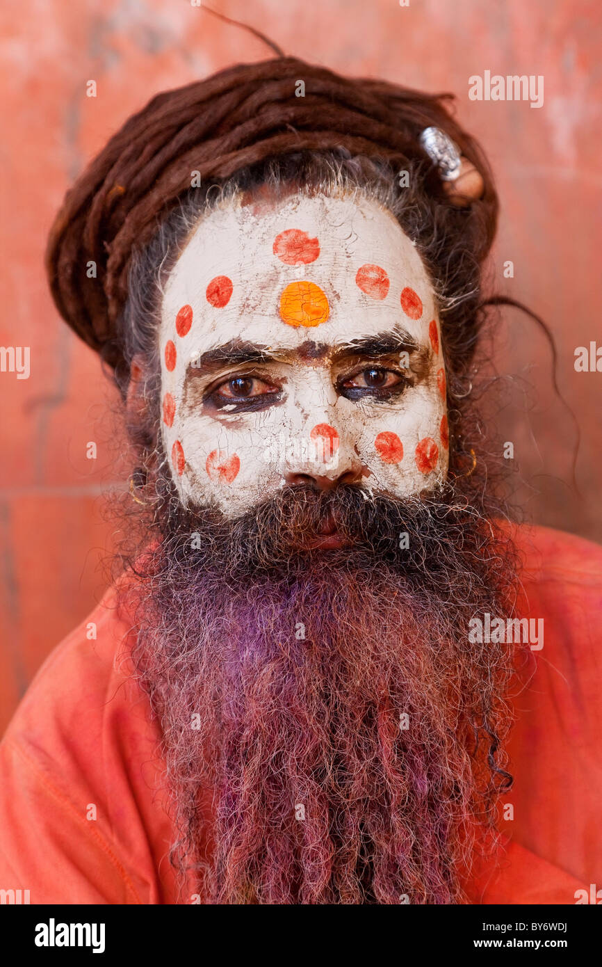 Sadhu, Mathura, Uttar Pradesh, India Stock Photo