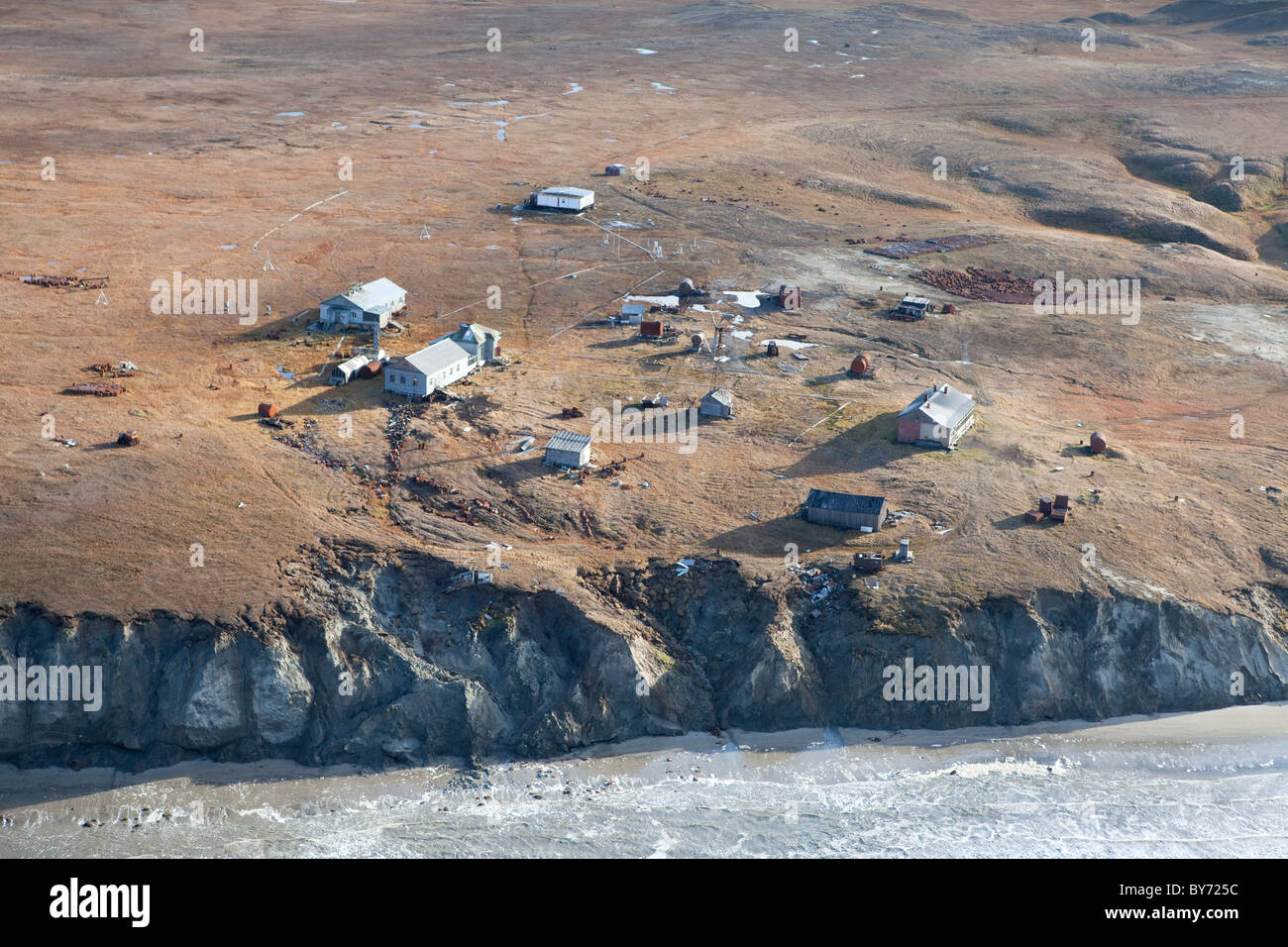 Yamal Peninsula , Western Siberia , Russia . The Nenet tribe way of life  face threats from gas exploration and - Stock Image
