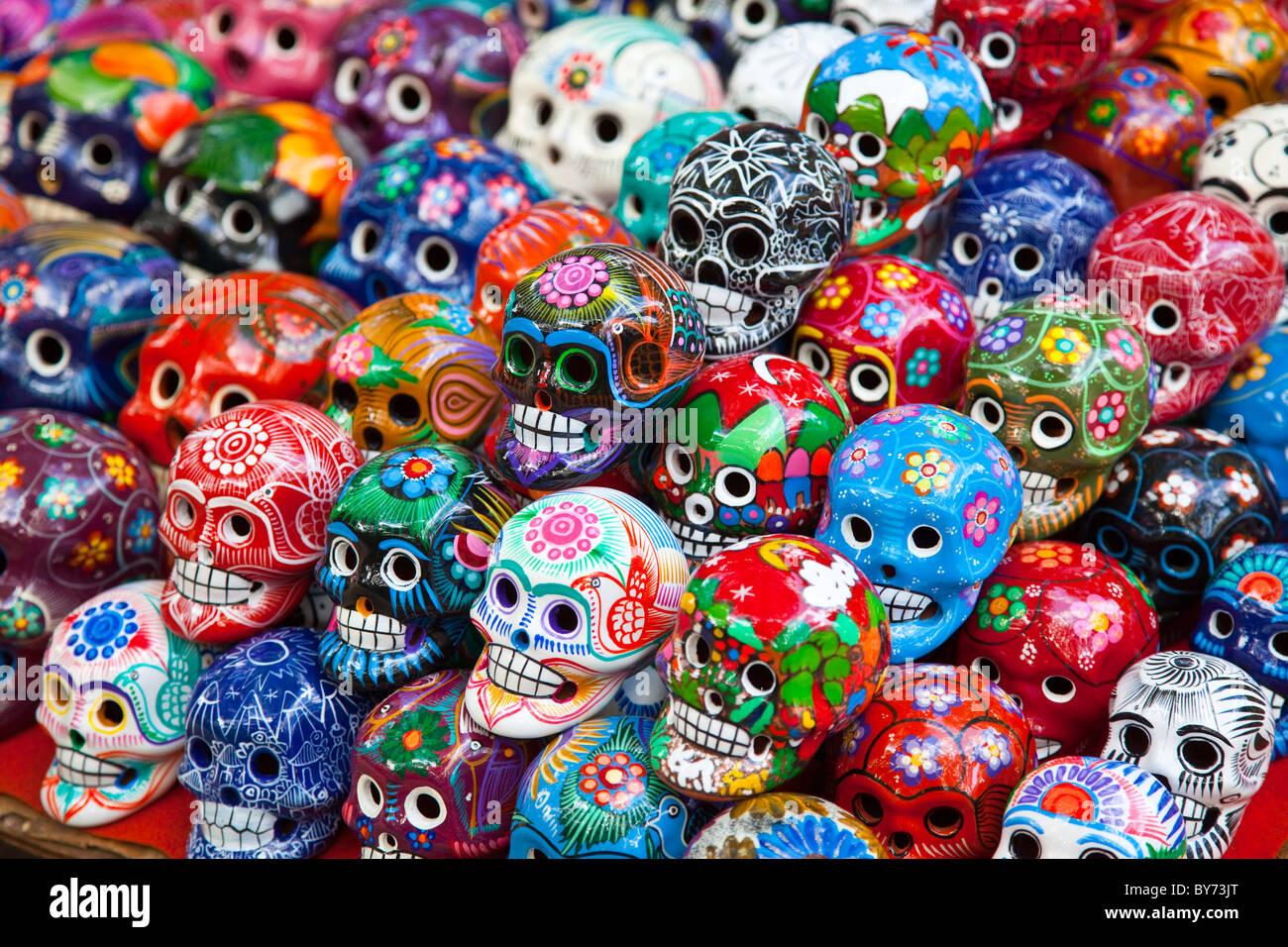 Ceramic Souvenirs At Chichen Itza Mexico Stock Photo