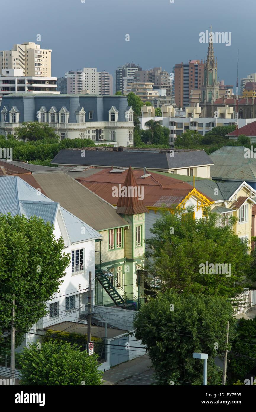 Residential neighborhood in Vina del Mar, Chile - Stock Image