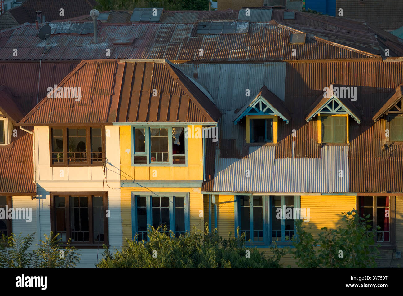 Old house in Viña del Mar, Chile - Stock Image