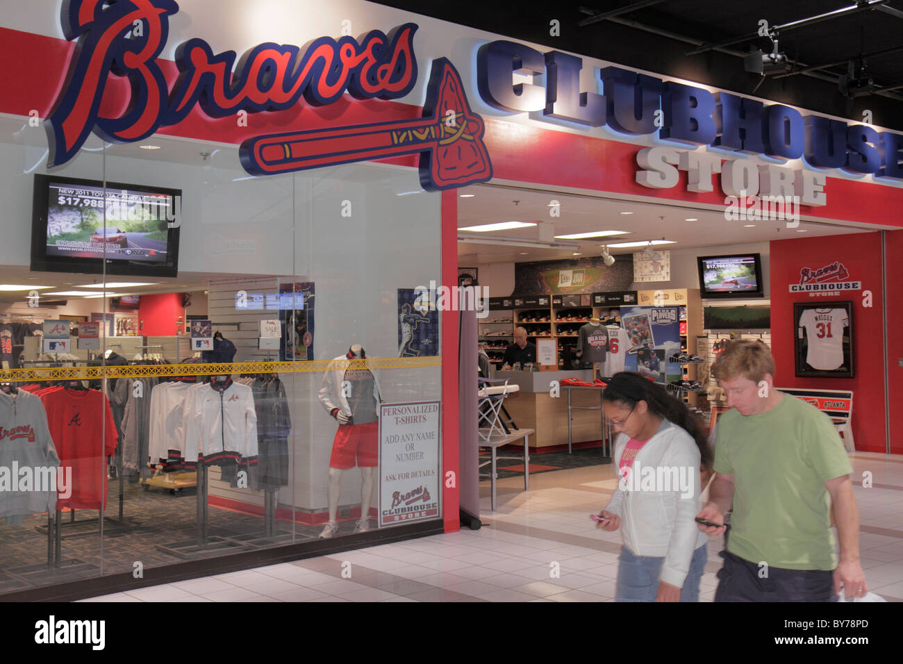san francisco 9c0dc 00e27 Atlanta Georgia CNN Center Braves Clubhouse Store atrium ...