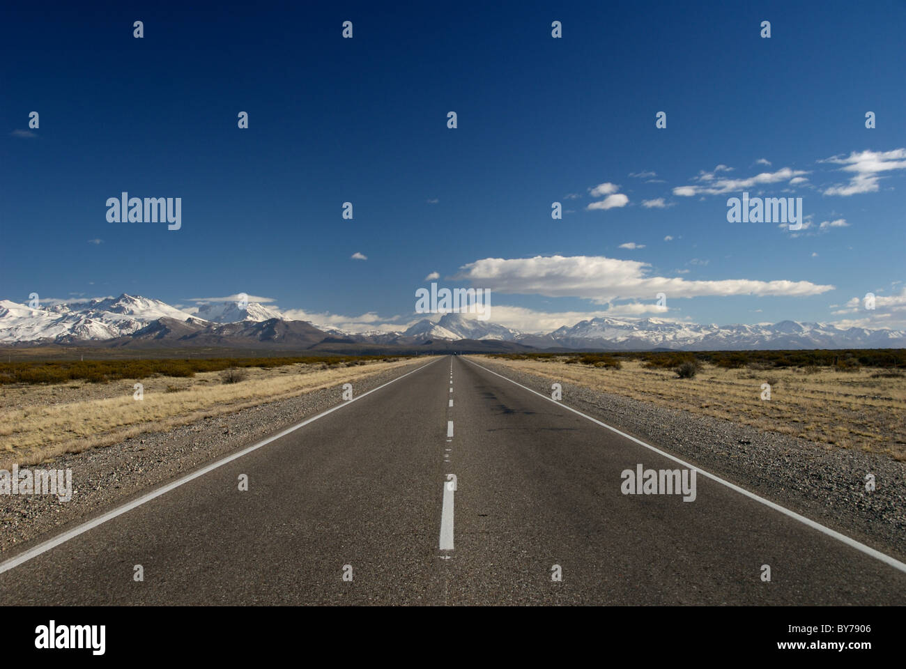 Argentinian Road near Malargue, Argentina - Stock Image