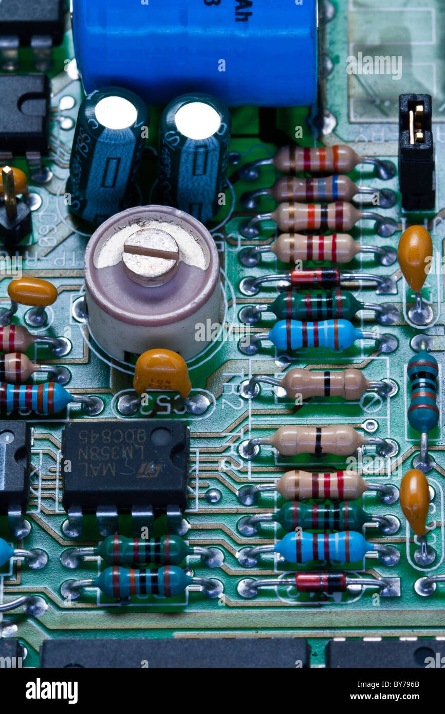 Printed Circuit Board Pcb Ics Stock Photos Closeup Of Electronic Royalty Free Photography A And Assorted Components Image