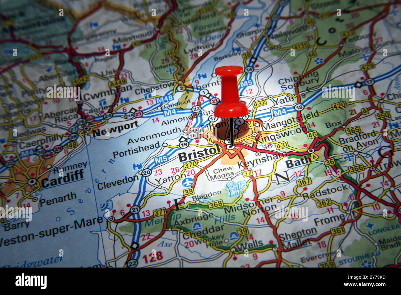 Map Pin pointing to the City of