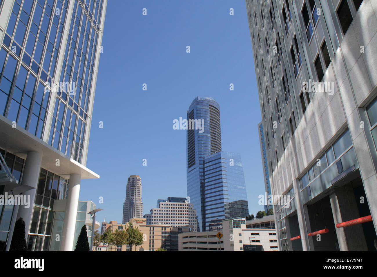 Atlanta Georgia Buckhead Peachtree Street skyscraper high rise office building upscale commercial real estate modern - Stock Image