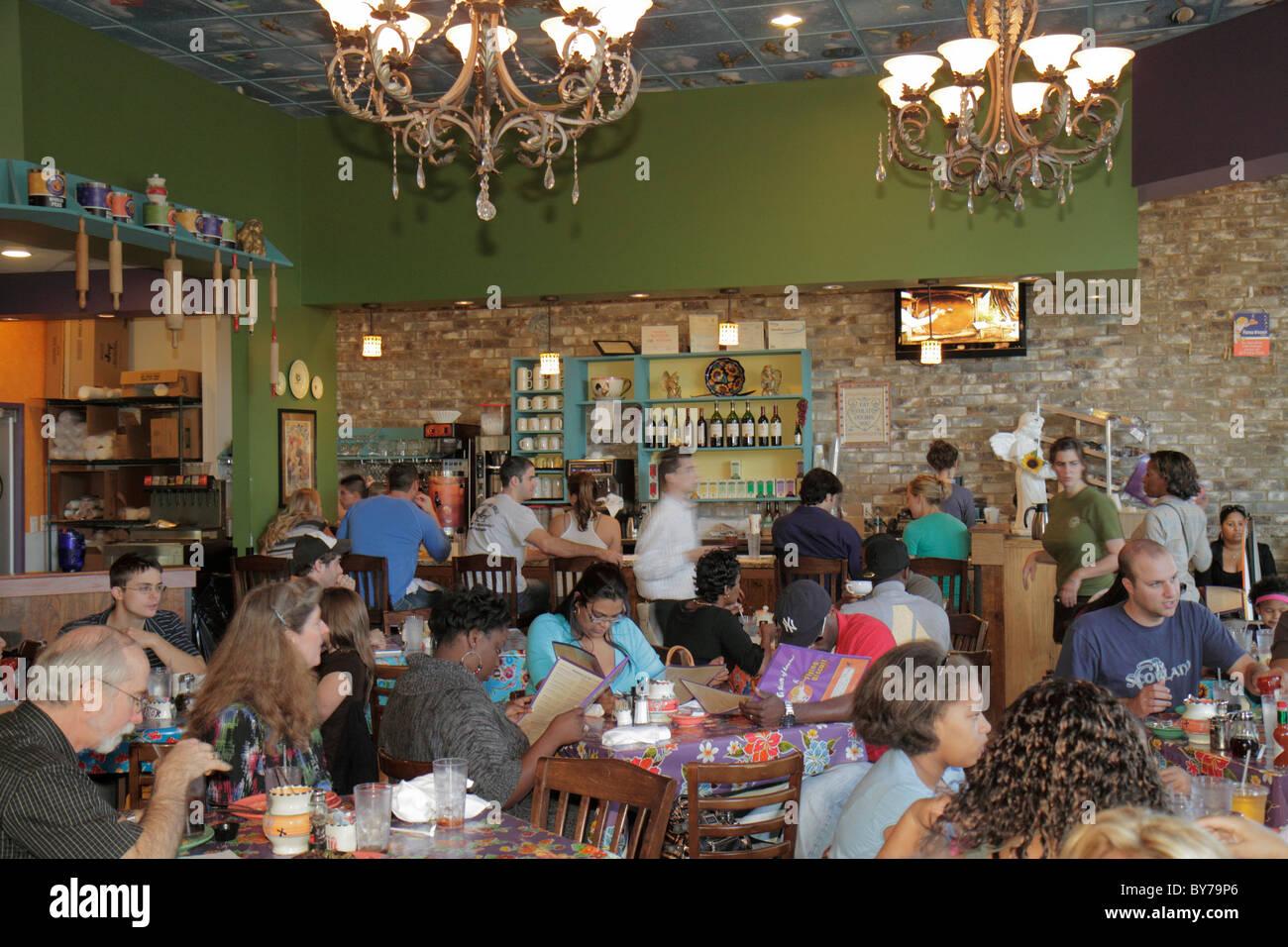 Atlanta Georgia Buckhead Peachtree Street Terminus Flying Biscuit Cafe  Restaurant Business Casual Dining Black Woman Man Patron