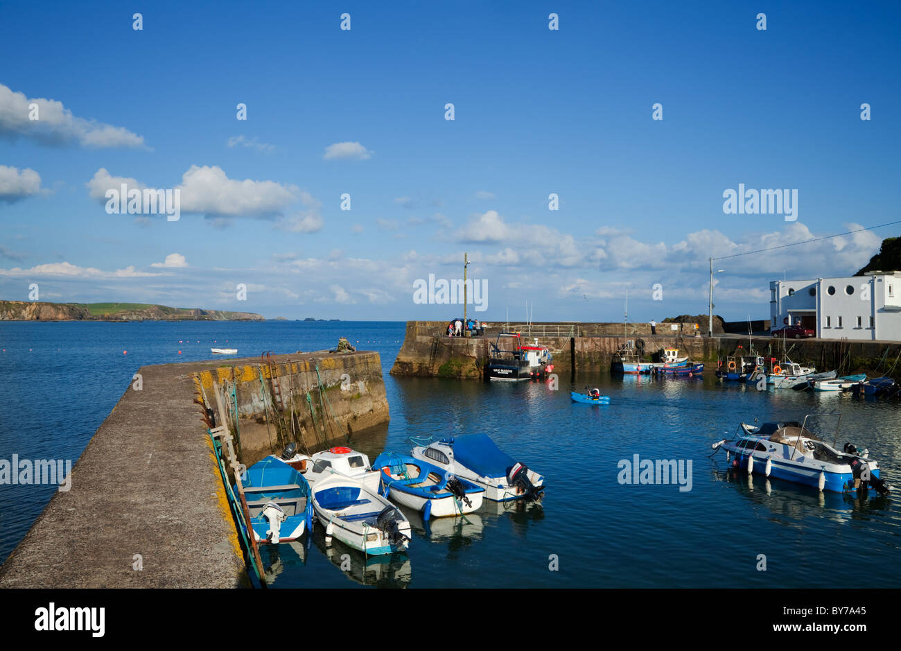 Boatstrand Harbour, The Copper Coast Geopark, County Waterford, Ireland - Stock Image