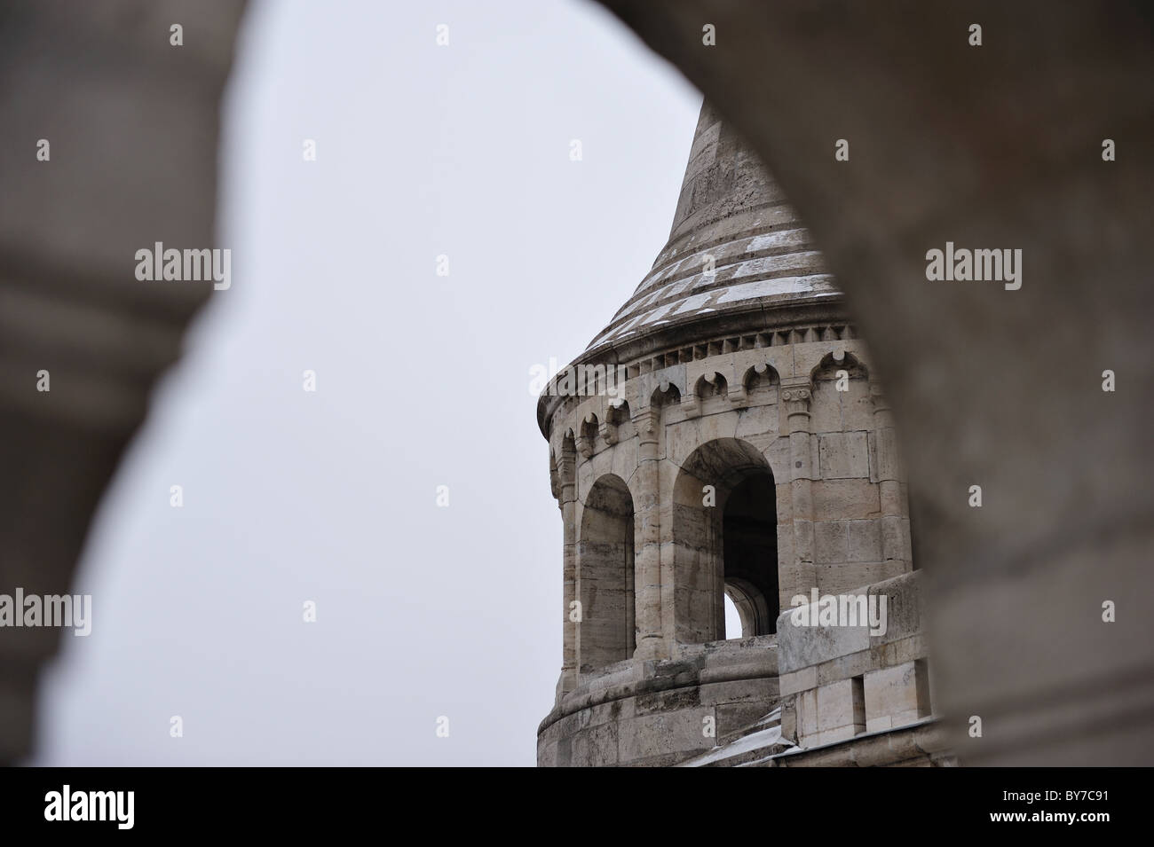 View of Fisherman's Bastion in Budapest - Stock Image