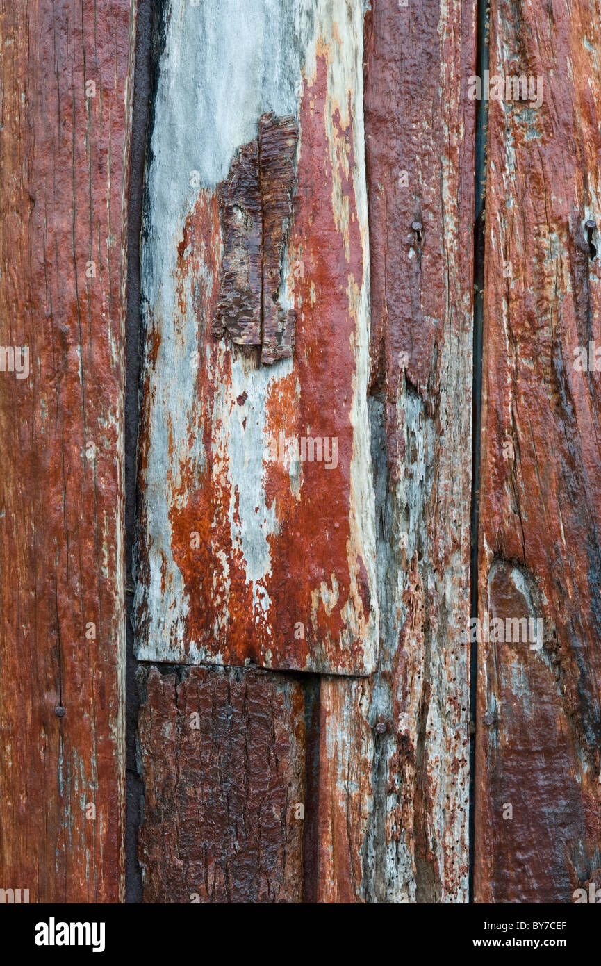 Capilla Stella-Maris, Chaple details at Cape Horn Tierra del Fuego archipelago of southern Chile Pacific Ocean - Stock Image