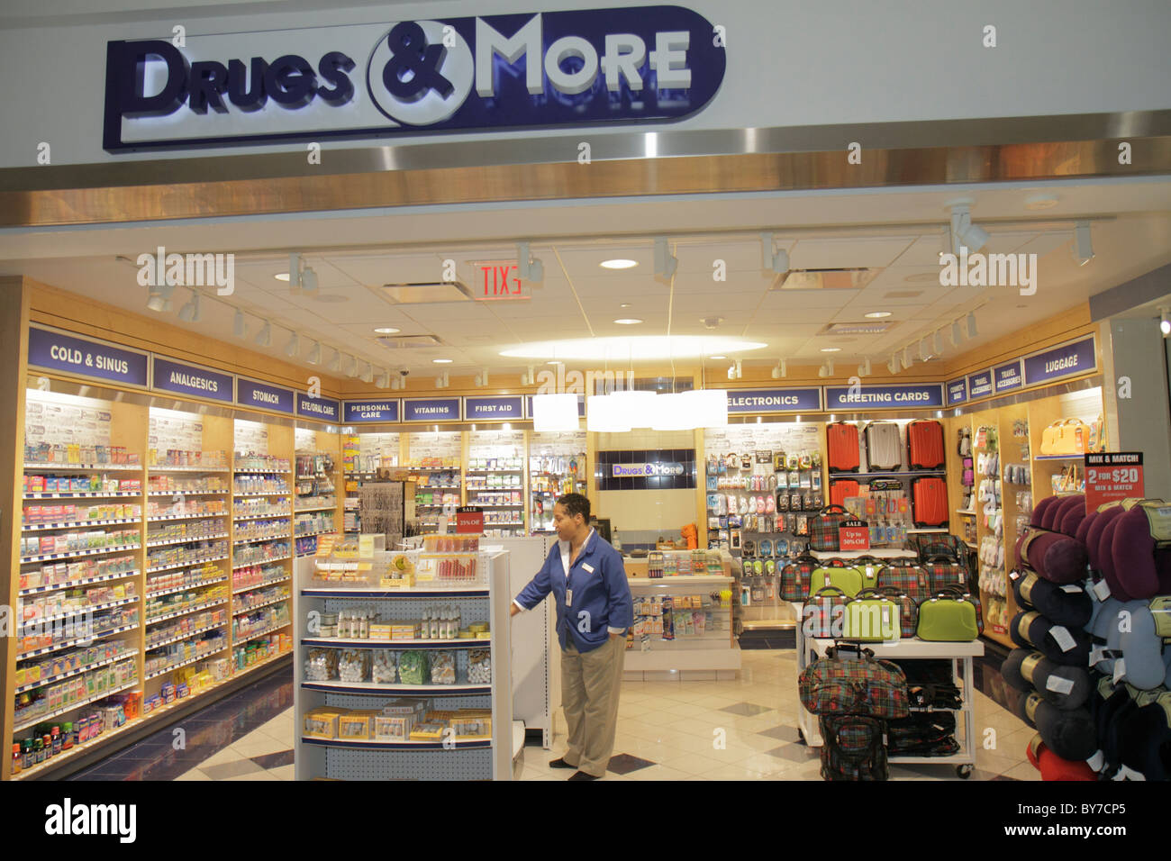 Atlanta Georgia Hartsfield-Jackson Atlanta International Airport concession retail business Drugs & and More - Stock Image
