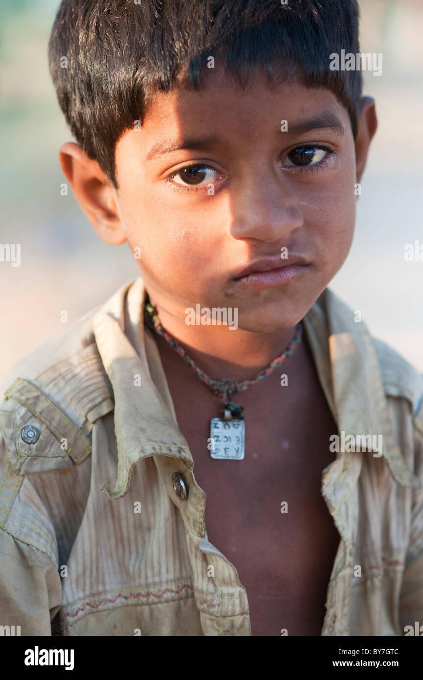 Ethnic facial sad