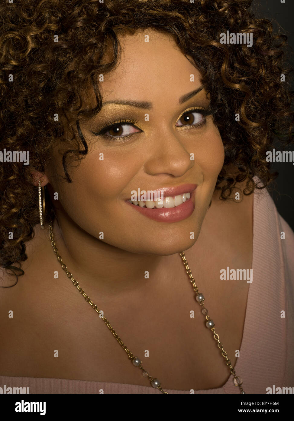 Beautiful Puerto Rican / Bronx  Woman Portrait - Stock Image