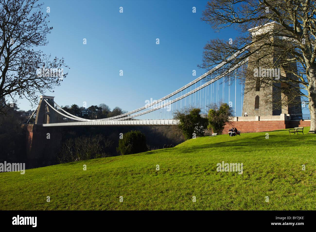 Clifton Suspension Bridge, Bristol, Avon, England, UK - Stock Image