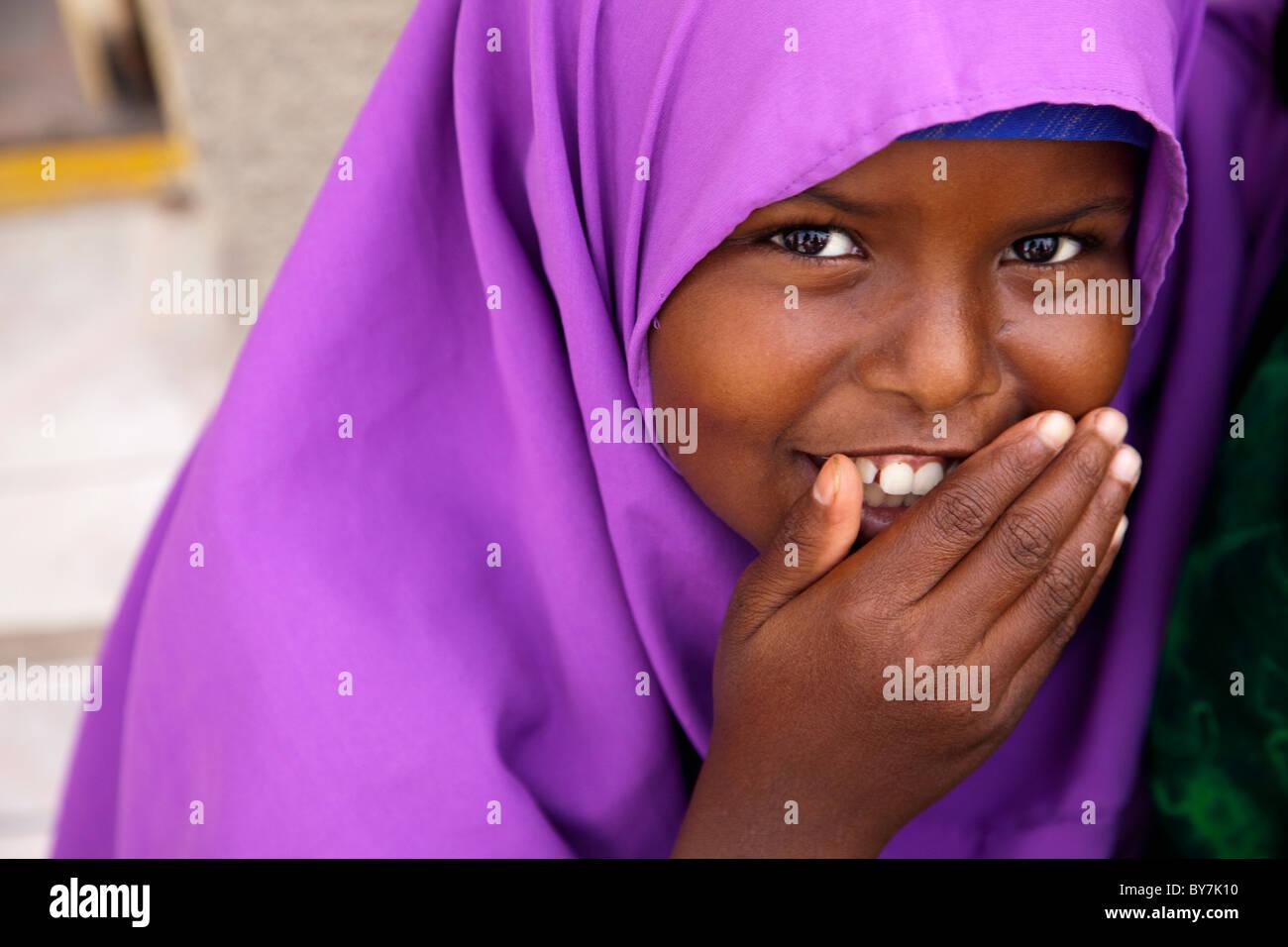 Somali girl in Hargeisa, capital of Somaliland Stock Photo