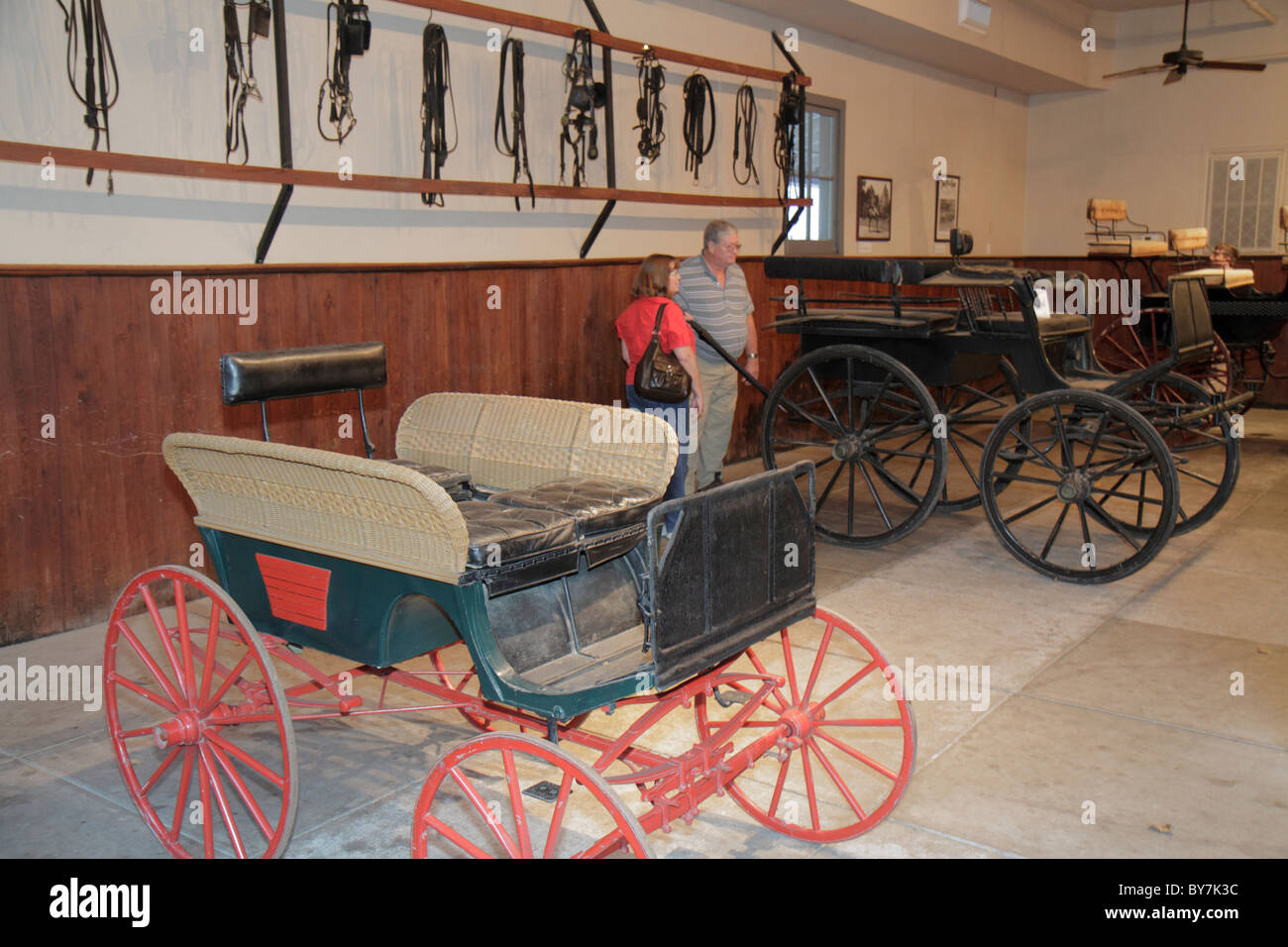 Nashville Tennessee Belle Meade Plantation historic site mansion estate thoroughbred breeding farm carriage house - Stock Image