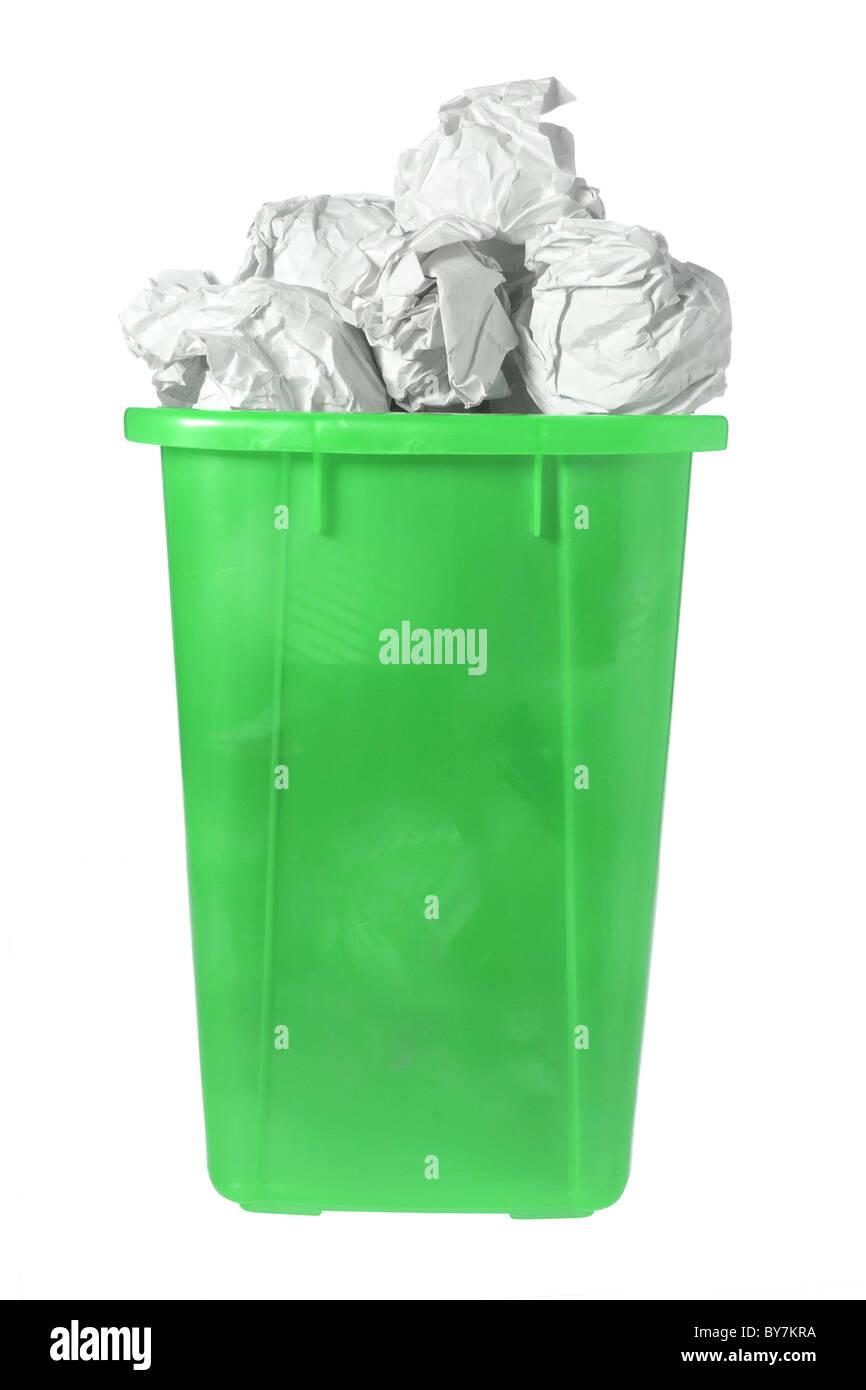 Waste Paper Bin - Stock Image