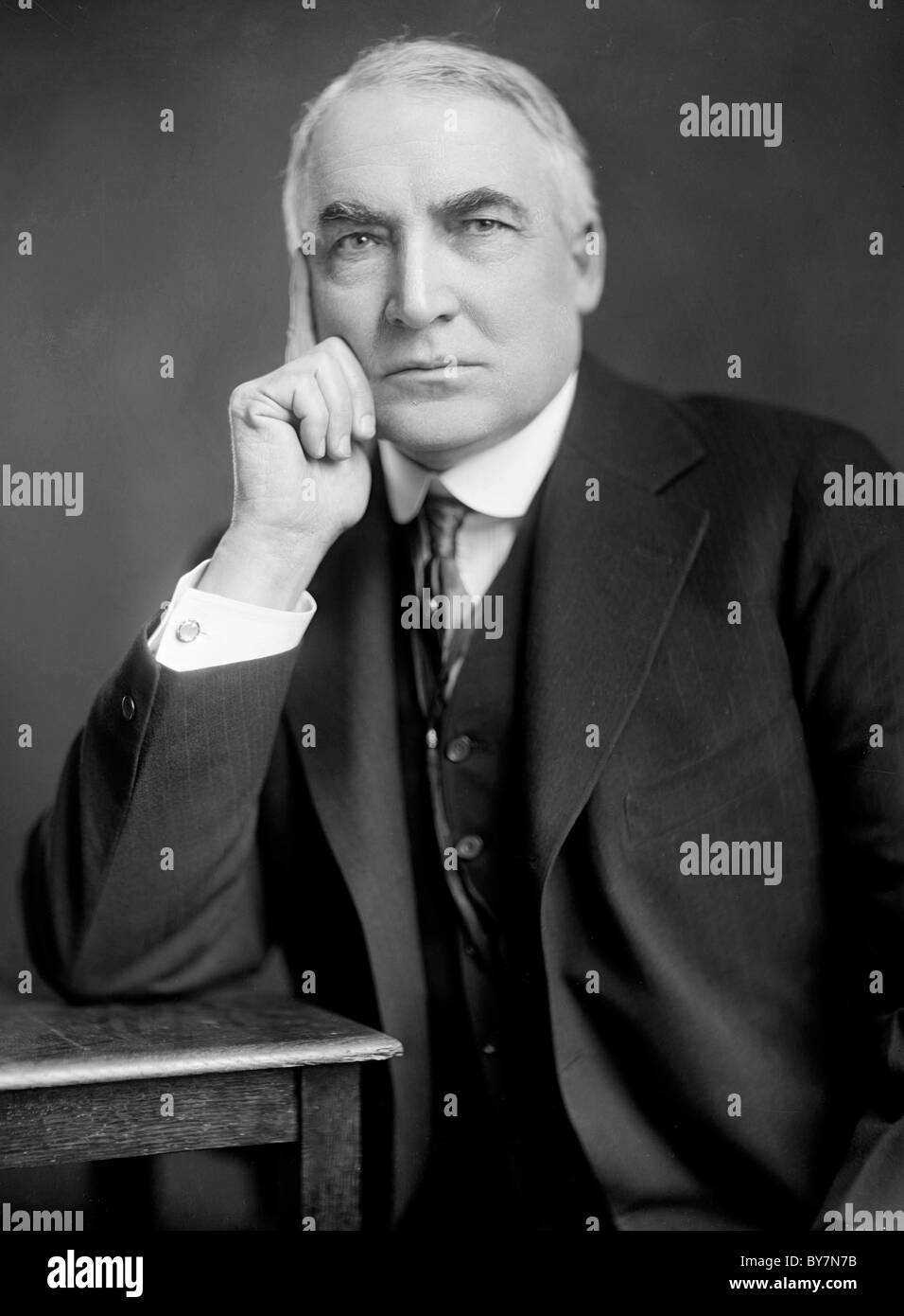 Warren Harding was the 29th President of the United States. - Stock Image