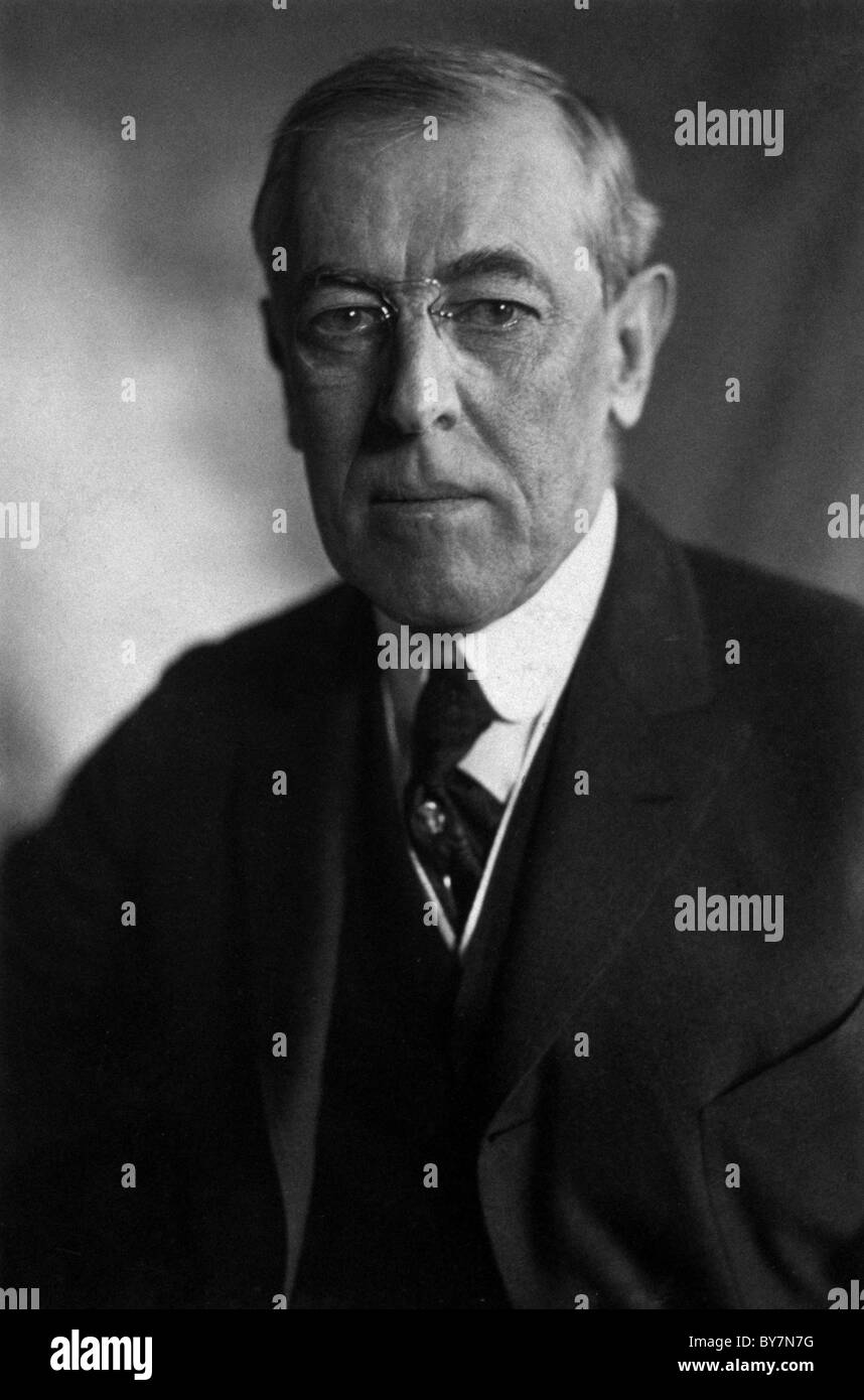Woodrow Wilson was the 28th President of the United States. - Stock Image