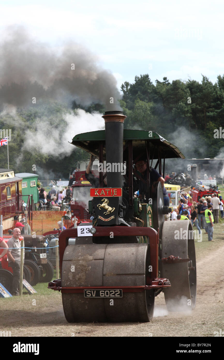 A steam traction engine at the Cromford Steam Engine Rally 2010. - Stock Image