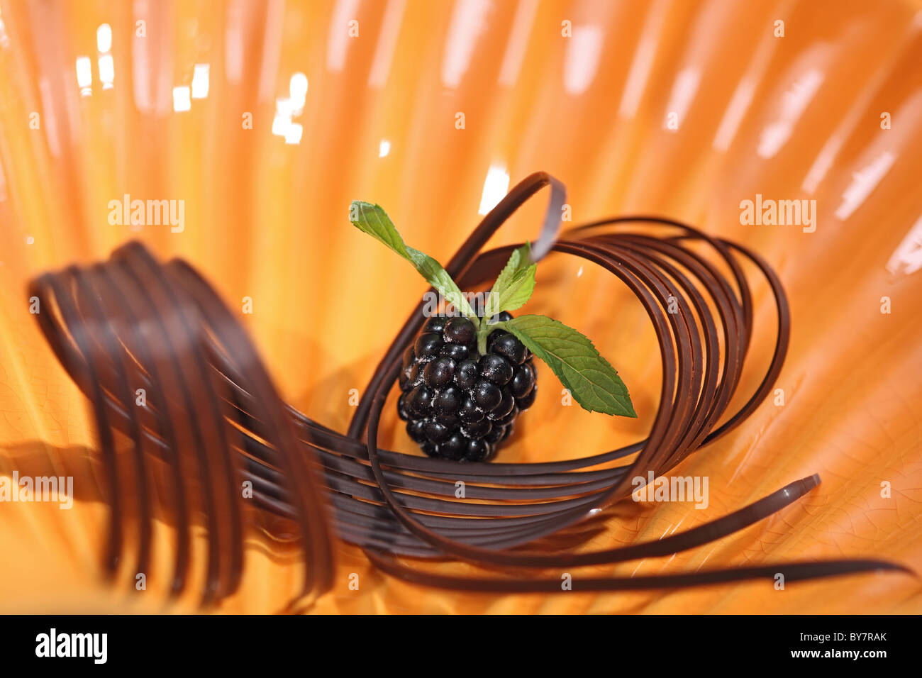chocolate sugary berry - Stock Image