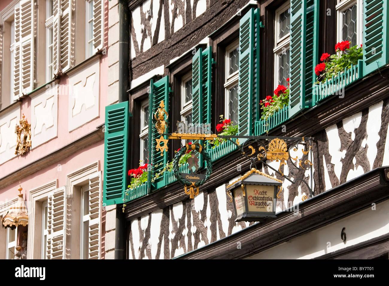 Pub or Inn sign, Bamberg, Germany - Stock Image