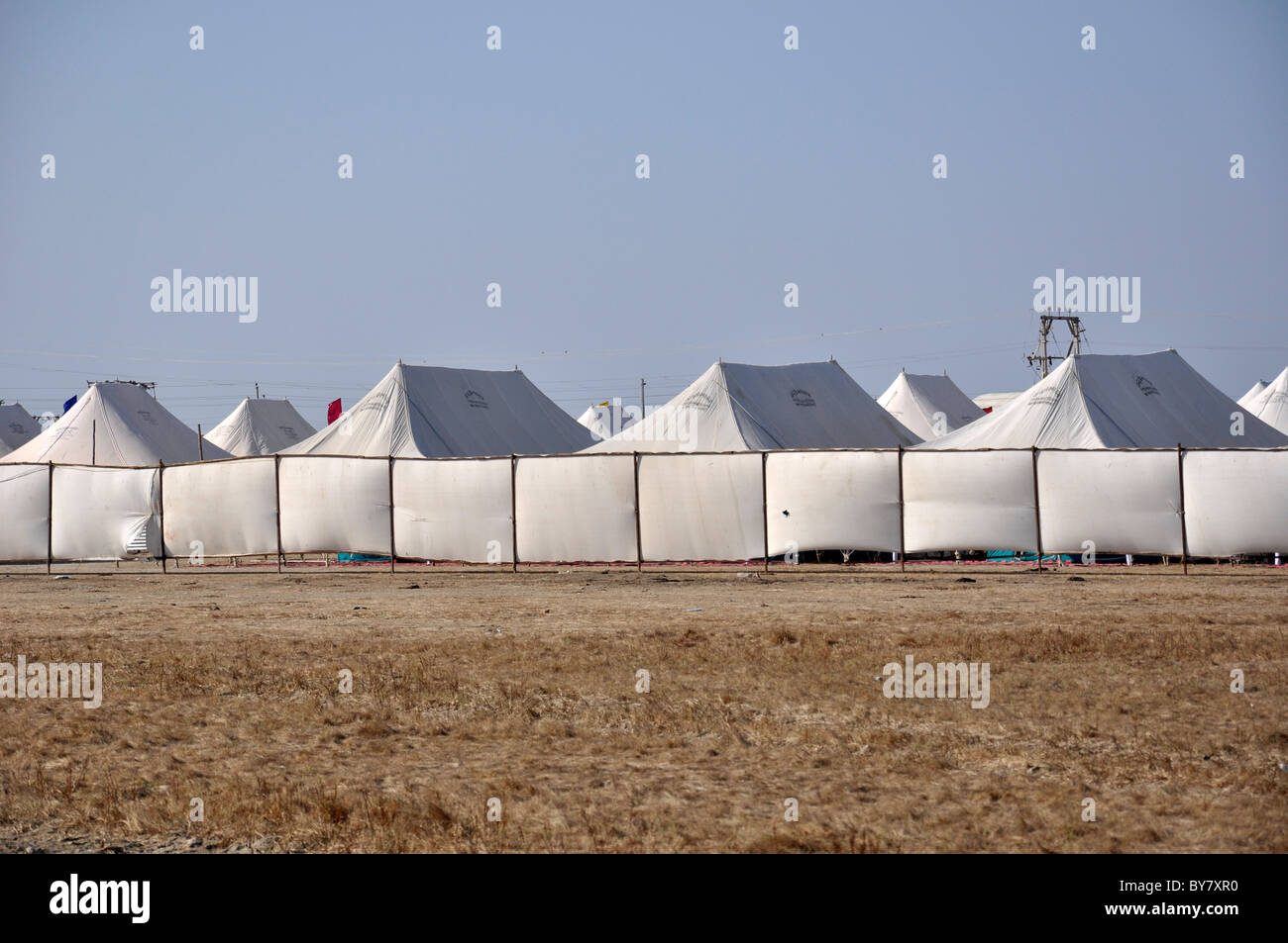 Tent accomodation - Stock Image