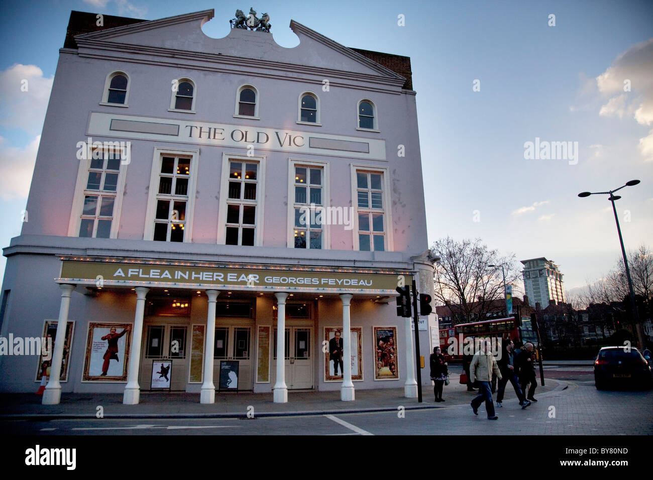 Exterior of The Old Vic Theatre on The Cut in London. - Stock Image