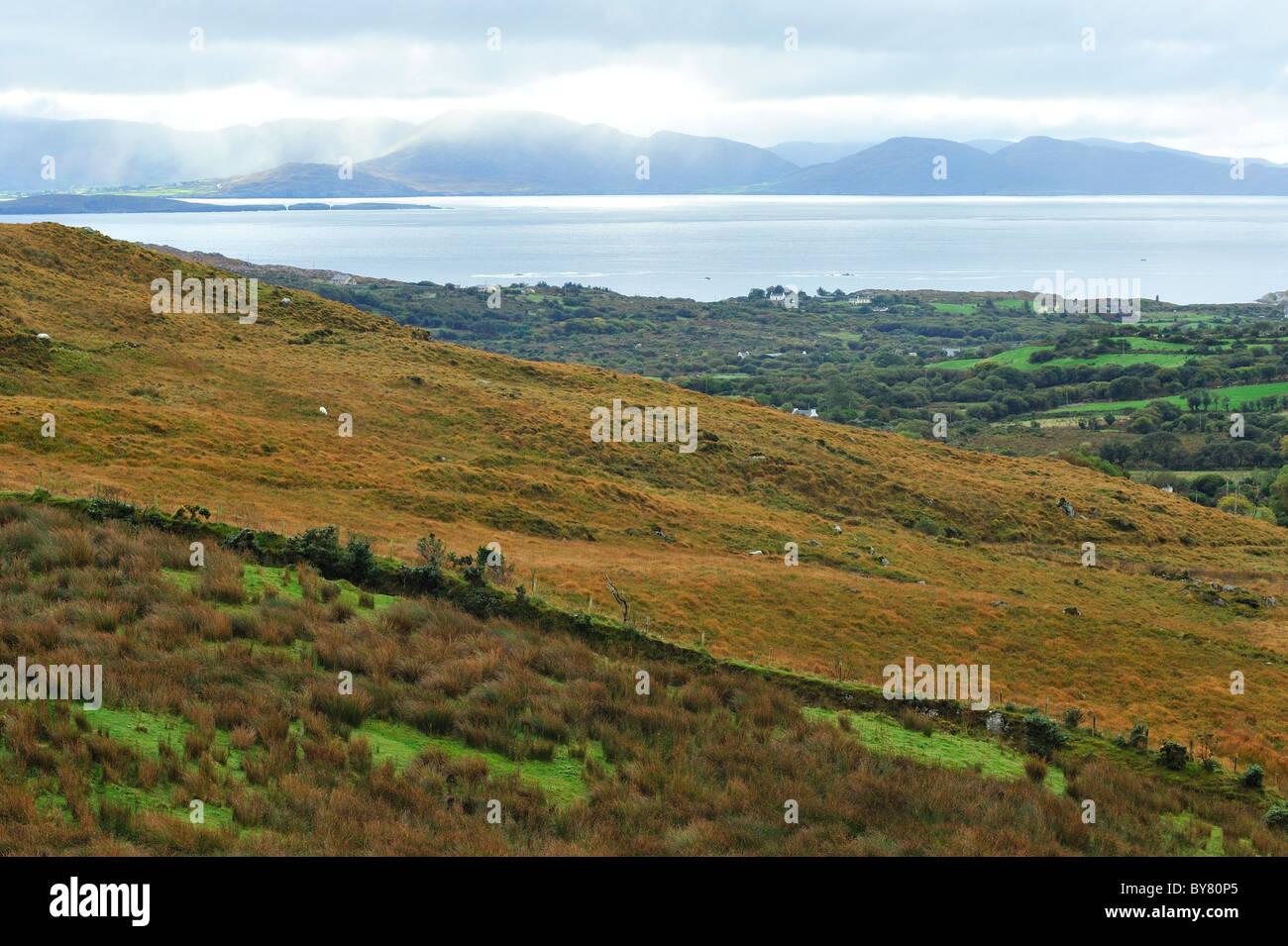 Sneem, Overlooking Beara Peninsula, County Kerry, Ireland - Stock Image
