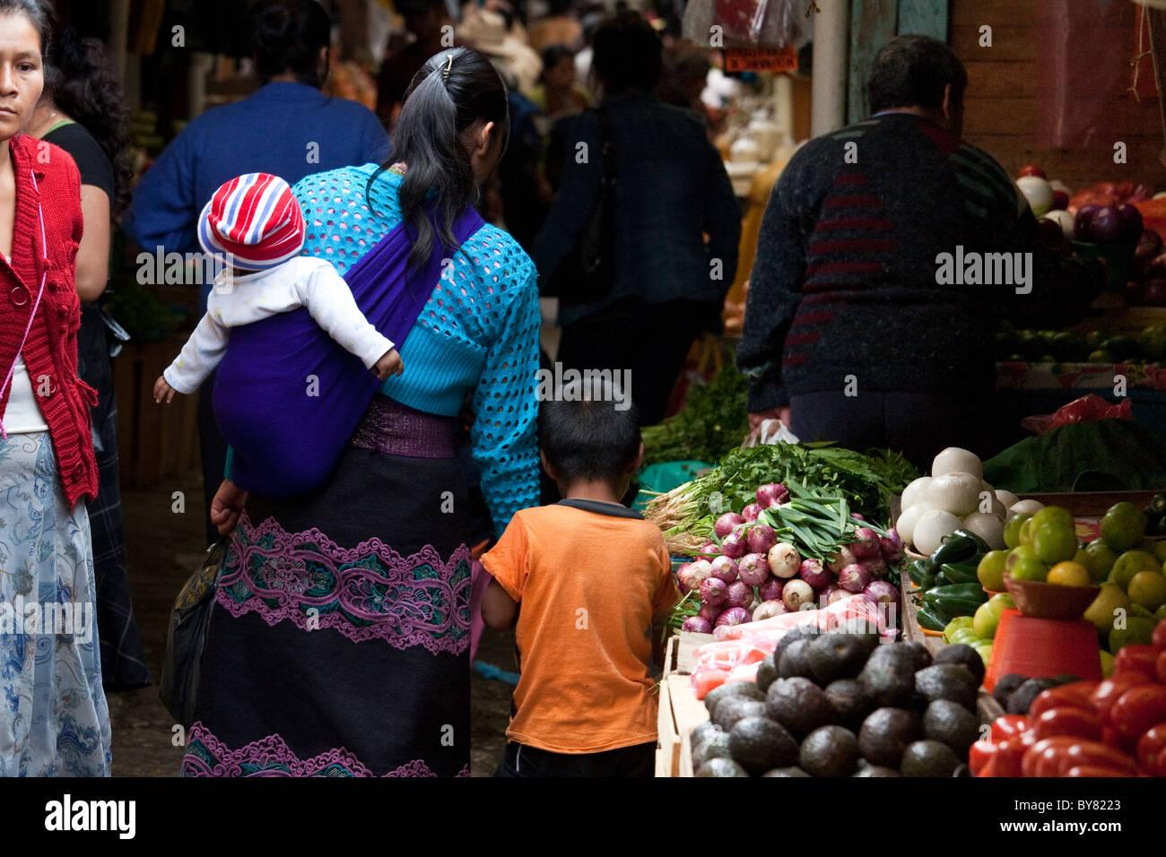 Mercado Municipal, San Cristobal de las Casas, Chiapas, Mexico - Stock Image