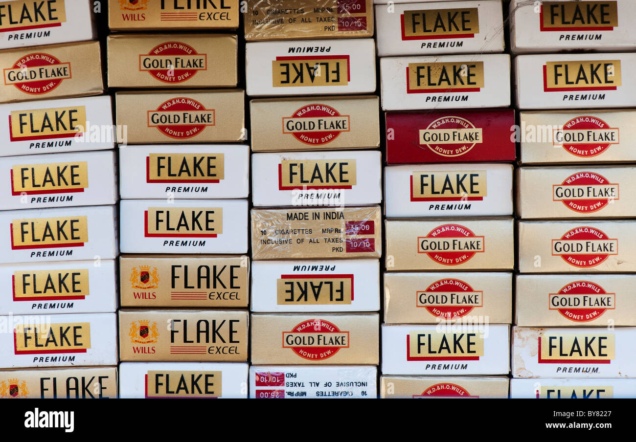 Indian Flake Cigarette packets abstract. India - Stock Image