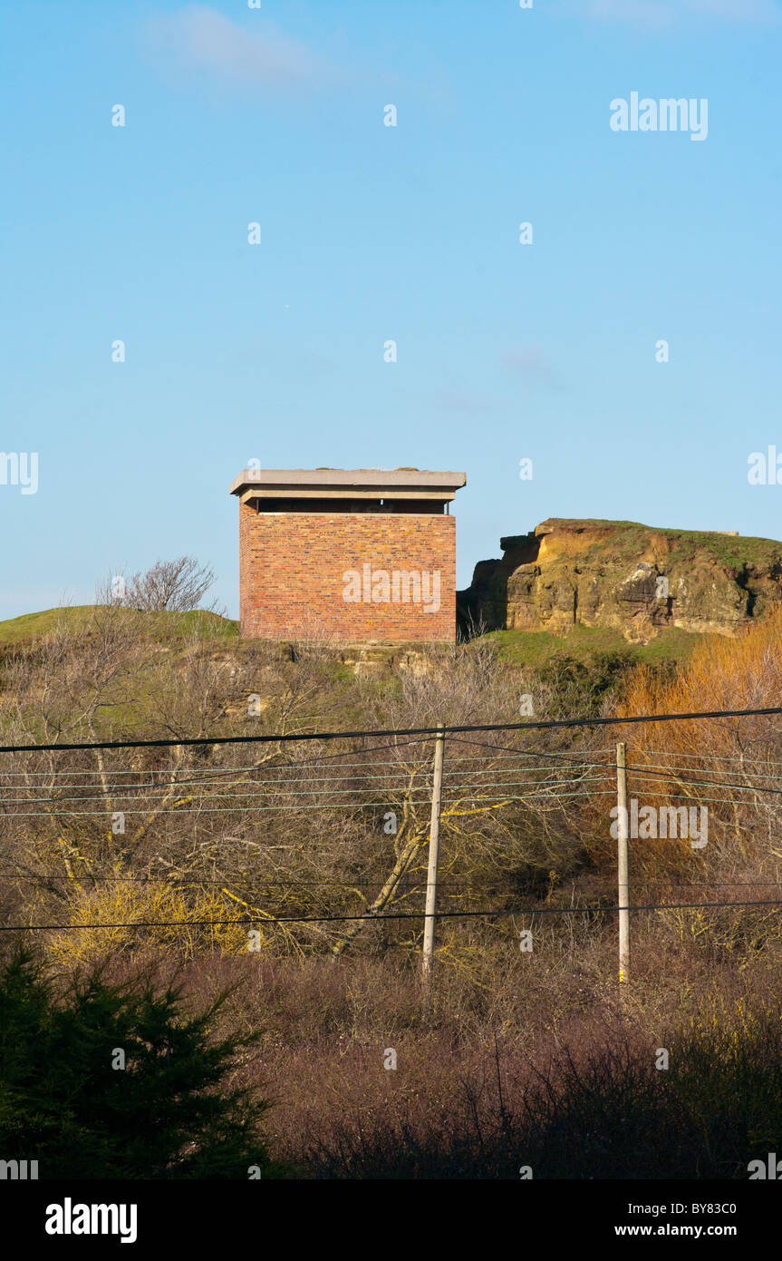 World War Two Battery Observation Post Pett Level East Sussex England - Stock Image