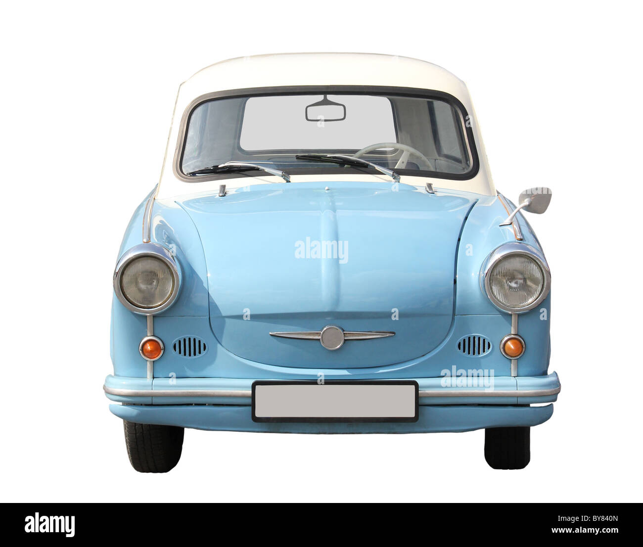 European type car from the seventies. - Stock Image
