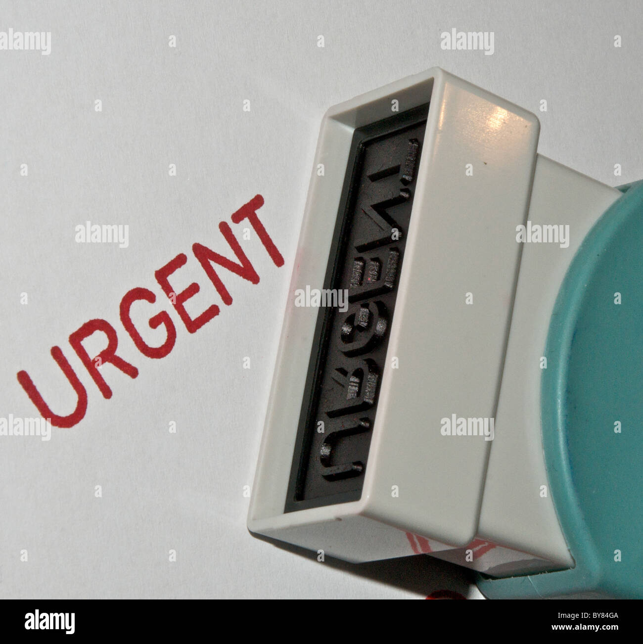 Rubber Stamp - Urgent - Stock Image