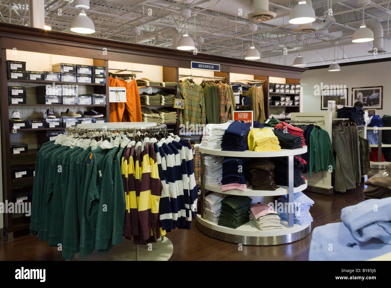 Polo Ralph Lauren store, Chicago Premium Outlets, Aurora, Illinois, USA - Stock Image
