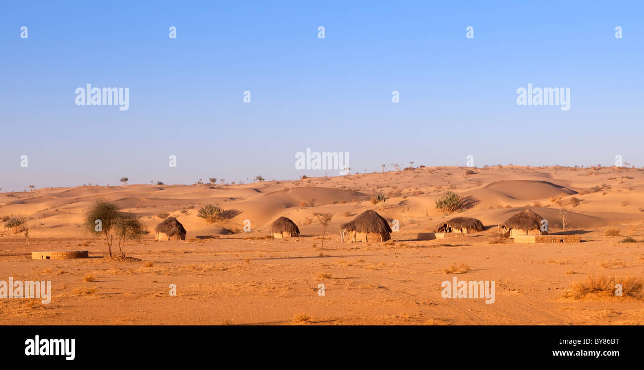 India Rajasthan Thar Desert Traditional Desert Homes Stock Photo Alamy